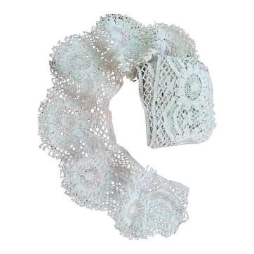 Victorian Hand Made Lace Trim for Doll Clothes
