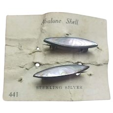 Victorian Sterling Abalone Collar Beauty Pins Doll Jewelry