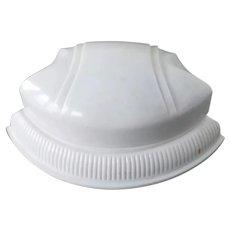 Art Deco White Clam Shell Ring Box