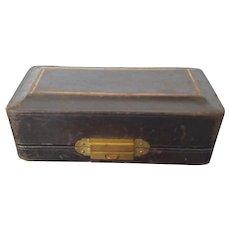 Victorian Leather Brooch Jewelry Display Presentatin Box