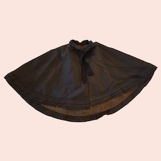 Victorian Black Child's Mourning Cape Perfect for Large Doll