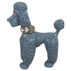 Napier Figural Poodle Dog Brooch Swivel Head