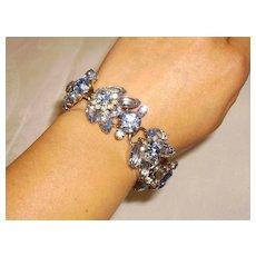 Juliana, DeLizza & Elster Blue Rhinestone Bracelet