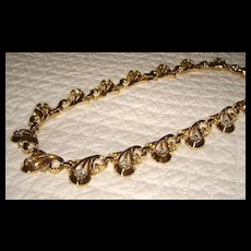 Vintage Trifari Rhinestone Necklace