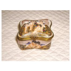 Capodimonte Hand Painted Porcelain Trinket or Jewelry Box