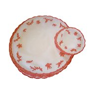 Set of 12 French Embroidered Sea Life Round Placemats & Coasters