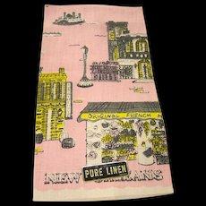 Vintage Souvenir of New Orleans Linen Kitchen Towel