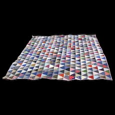 """Early """"Odd Fellows"""" Pattern Hand Stitched Quilt, PRISTINE"""