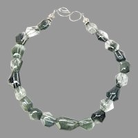 Faceted Green Lodalite Collar Necklace