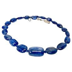 Exceptional Quality Blue Kyanite Necklace