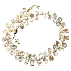 Blush Keishi Petal Pearl Necklace