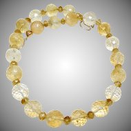 Large Great Quality Faceted Citrine Necklace