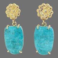Beautiful Chinese Turquoise Drop Earrings