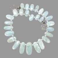 Stunning Natural Aquamarine Drops Necklace