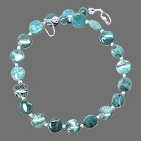 Stunning Quality Natural Blue Green Chrysocolla Necklace