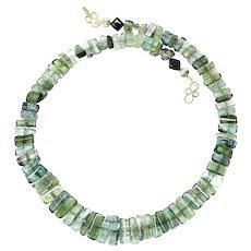 Clear Green Gem Quality Tourmaline Necklace