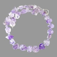 Large Natural Purple Amethyst Nugget Necklace