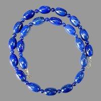 Stunning Top Quality Lapis Lazuli 14k Gold Necklace