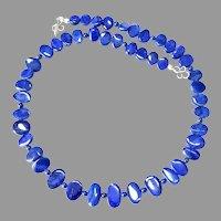 Gorgeous Lapis Lazuli Fancy Drop Necklace