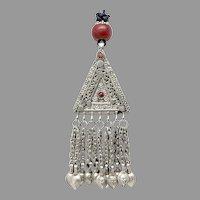 Antique Silver Afghan Kuchu Pendant Necklace