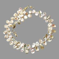 Beautiful Blush Keishi Petal Pearl Necklace