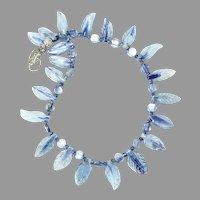 Stunning Iridescent Blue Kyanite Petal Necklace