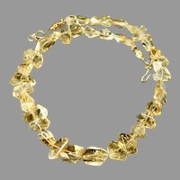 Dramatic Large Faceted Golden Citrine Nuggets Necklace