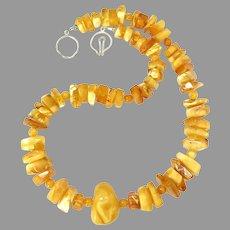 Dramatic Golden Butterscotch Amber Necklace