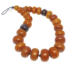 Antique African Mali Copal Amber Necklace