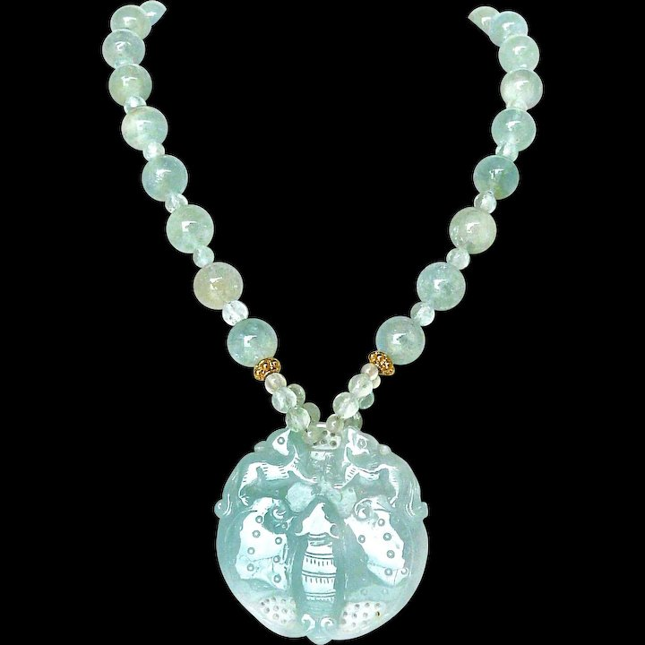 aquamarine aqua products shape grande marine necklace pear penny preville