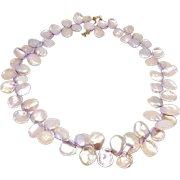 Pink Keishi Petal Pearl Necklace
