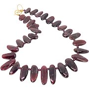 Tumbled Red Garnet Drops Necklace