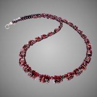 Rich Red Garnet Drops Necklace