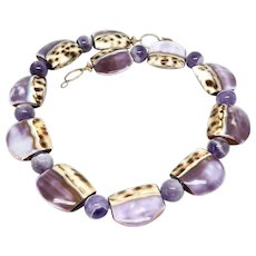 Shell and Purple Cape Amethyst Necklace