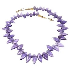 Purple Amethyst Fancy Drop Necklace