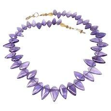 Purple Amethyst Fancy Drop Necklace