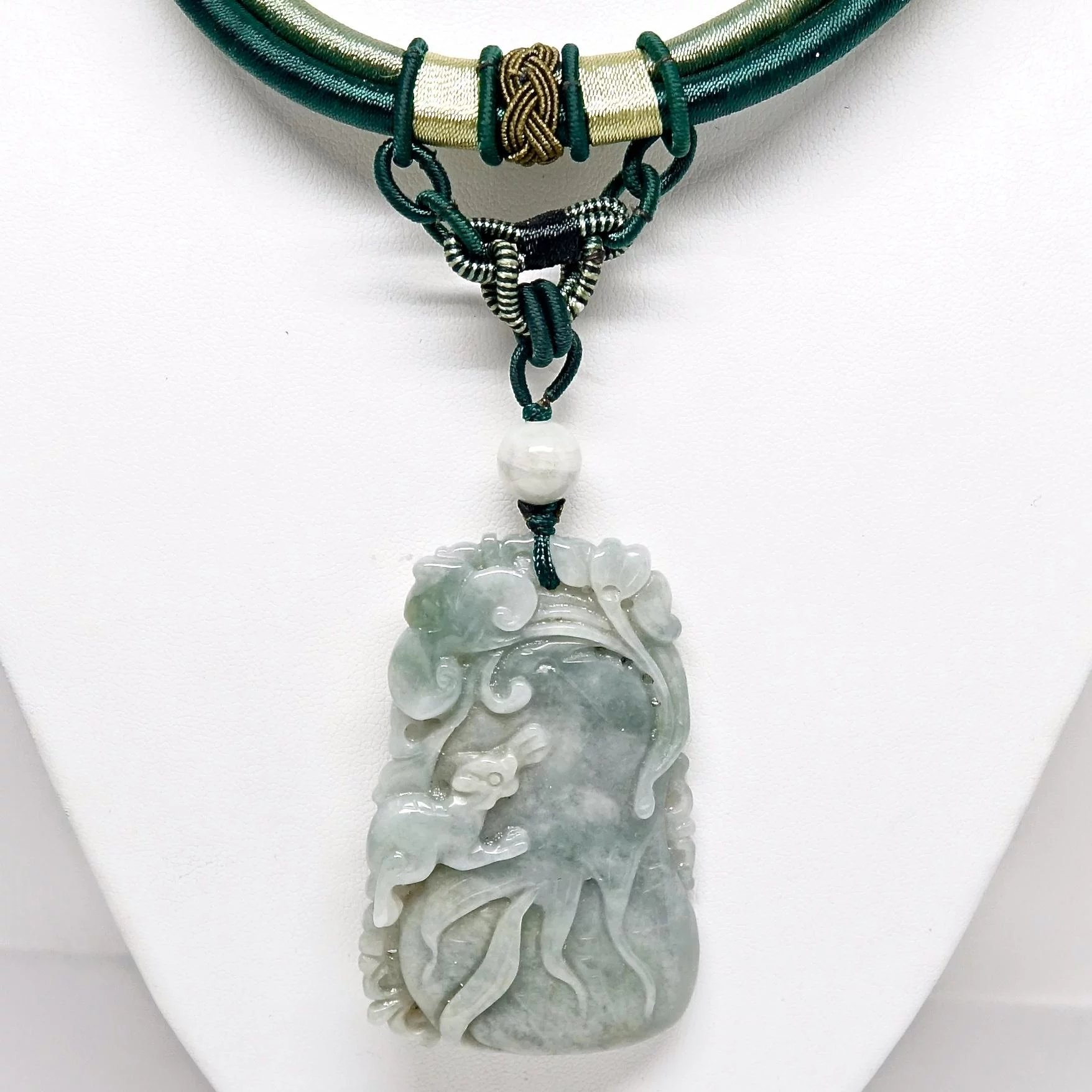 hand necklace jewelry store the pendant jade lady carved products asian s black