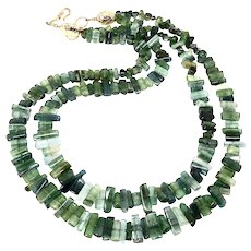 Gem Quality Green Tourmaline Necklace