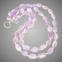Tumbled Pink Kunzite Double Strand Necklace