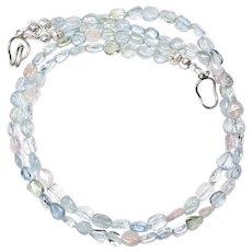 Gem Quality Beryl Double Strand Necklace