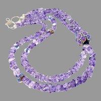 Renown Glass Artist Hand Blown Glass Bead, Amethyst Necklace
