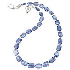 Stunning Iridescent Gem Quality Kyanite Necklace