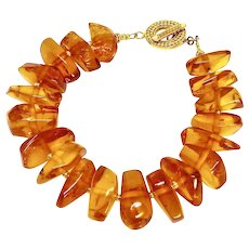 Baltic Honey Amber Nuggets Bracelet