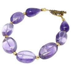 Purple Amethyst Ovals Bracelet