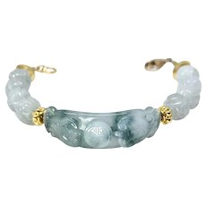 Carved Jade Bracelet