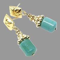 Rich Peruvian Opal Drop Earrings