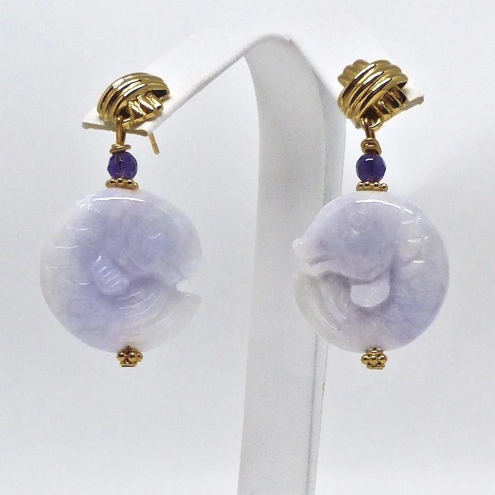 j jewelry grams sale jade karat gold yellow master id earrings at dangle purple for drop