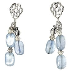 Blue Kyanite Drop Earrings