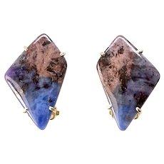 Unique Pietersite Button Earrings