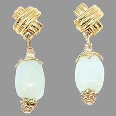 Rare Gorgeous Translucent Peruvian Opal Drop Earrings